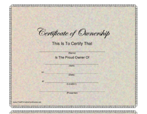 Certificate Of Ownership Template Download Printable Pdf inside Ownership Certificate Template