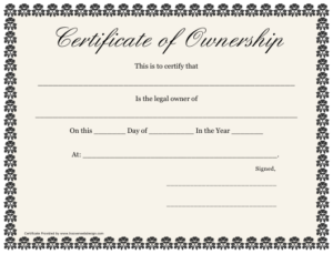 Certificate Of Ownership Template Download Printable Pdf within Fresh Ownership Certificate Templates