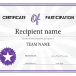 Certificate Of Participation For Templates For Certificates Of Participation