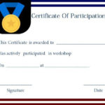 Certificate Of Participation For Workshop Template | Best Throughout Certificate Of Participation In Workshop Template
