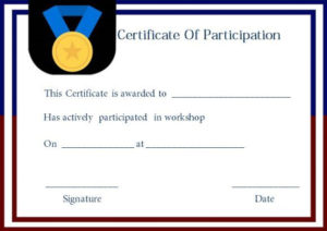 Certificate Of Participation For Workshop Template pertaining to Best Certificate Of Participation Template Doc 10 Ideas