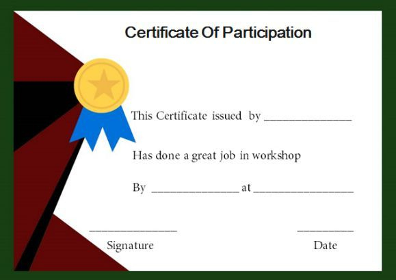 Certificate Of Participation In National Consultation intended for Workshop Certificate Template