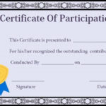Certificate Of Participation In Workshop Templates Inside Certificate Of Participation In Workshop Template