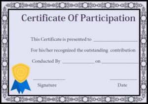 Certificate Of Participation In Workshop Templates pertaining to Workshop Certificate Template
