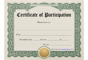 Certificate Of Participation Template Download Printable Pdf for Quality Certificate Of Participation Template Pdf