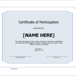 Certificate Of Participation Template For Word | Document Hub Within Fresh Certificate Of Participation Word Template
