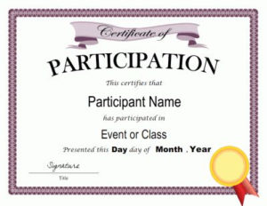 Certificate Of Participation Template In Pdf And Doc Formats within Certificate Of Participation Template Ppt