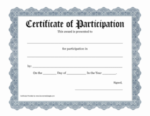 Certificate Of Participation Template Pdf – Pictimilitude inside Art Award Certificate Free Download 10 Concepts
