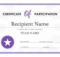 Certificate Of Participation with Certificate Of Participation Template Doc