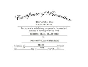 Certificate Of Promotion Free Templates Clip Art & Wording throughout School Promotion Certificate Template 10 New Designs Free