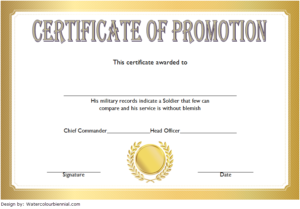 Certificate Of Promotion Template Army Free 1 | Two Package in Unique Certificate Of School Promotion 10 Template Ideas