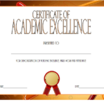 Certificate Of Recognition For Academic Excellence Template Inside Academic Achievement Certificate Templates