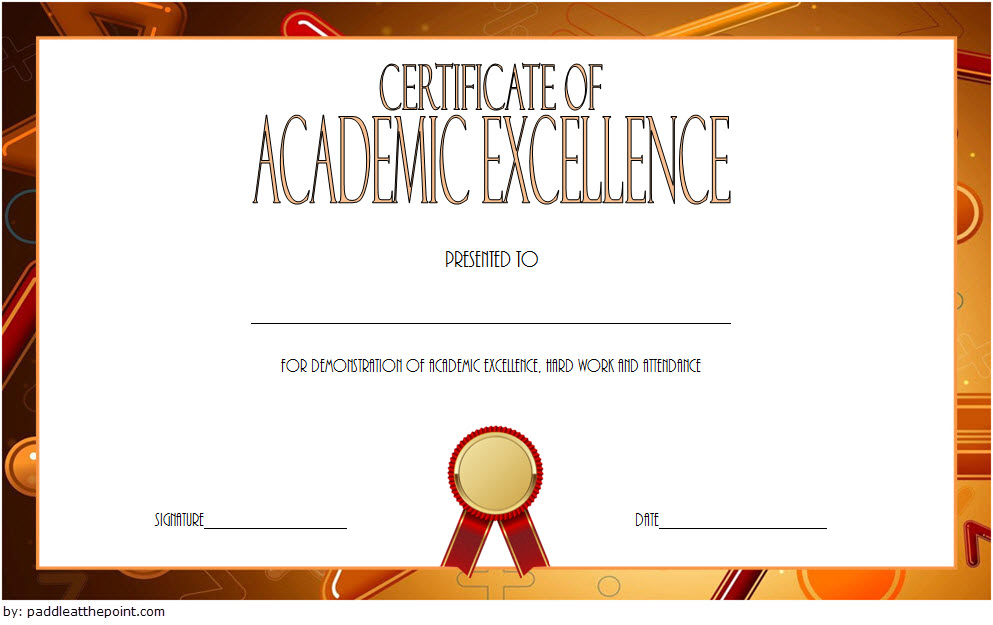 Certificate Of Recognition For Academic Excellence Template pertaining to Fresh Academic Achievement Certificate Template