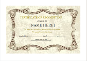 Certificate Of Recognition Template For Word | Document Hub throughout Award Certificate Templates Word 2007