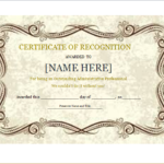 Certificate Of Recognition Template For Word   Document Hub With Certificate Of Appreciation Template Doc