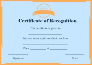 Certificate Of Recognition Templates: 30+ Best Ideas And inside Best Coach Certificate Template