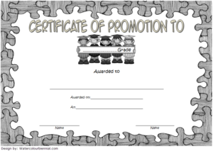 Certificate Of School Promotion Template 10 Free | School regarding Quality Grade Promotion Certificate Template Printable