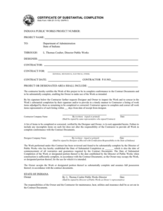 Certificate Of Substantial Completion Template (2 regarding Certificate Of Substantial Completion Template