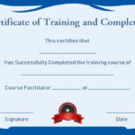 Certificate Of Training Completion Template Free   Training In Quality Class Completion Certificate Template