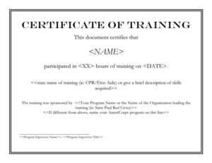 Certificate Of Training Template In Word And Pdf Formats in Training Certificate Template Word Format