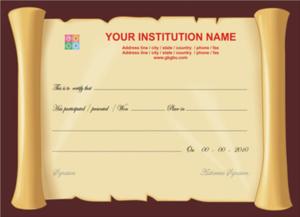 Certificate Scroll Template (6)   Professional Templates for Fresh Certificate Scroll Template