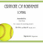 Certificate | Softball Awards, Certificate Templates, Awards For Best Free Softball Certificates Printable 10 Designs