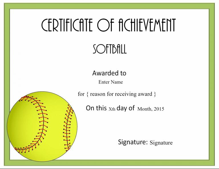 Certificate | Softball Awards, Certificate Templates, Awards regarding Unique Softball Award Certificate Template