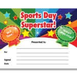 Certificate: Sports Day Superstar | Sports Day Certificates Inside Fresh Sports Day Certificate Templates