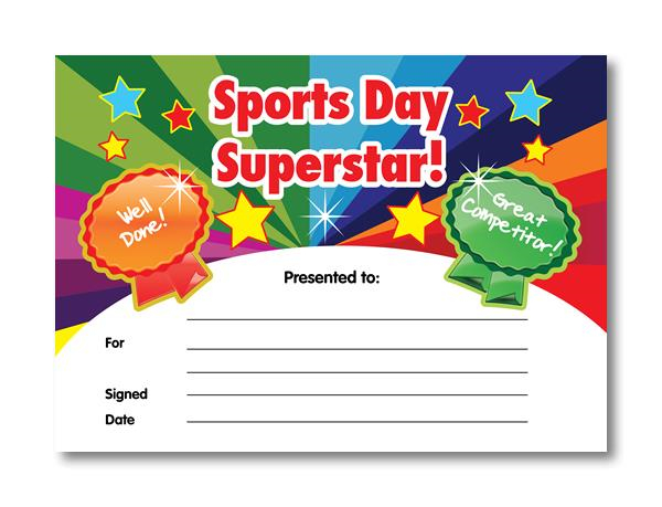 Certificate: Sports Day Superstar | Sports Day Certificates pertaining to Sports Day Certificate Templates Free
