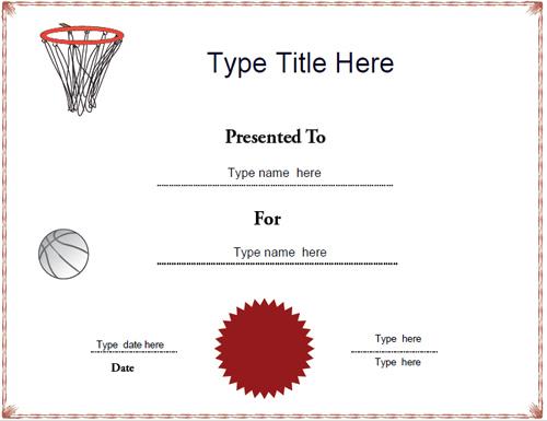 Certificate Street: Free Award Certificate Templates - No for New Netball Achievement Certificate Template