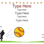 Certificate Street: Free Award Certificate Templates – No Inside Softball Certificate Templates Free