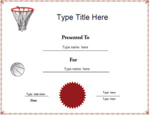 Certificate Street: Free Award Certificate Templates – No with New Netball Achievement Certificate Editable Templates