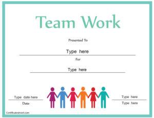 Certificate Street: Free Award Certificate Templates – No within Free Teamwork Certificate Templates