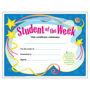 Certificate Student Of The Week. Unique Awards Feature throughout Student Of The Week Certificate Templates