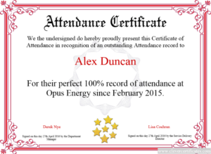 Certificate Template | Certificate Design | Attendance for Quality Free Printable Certificate Of Promotion 12 Designs