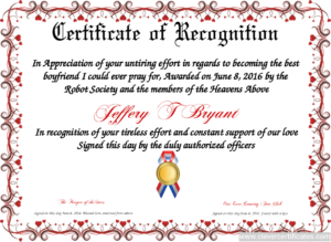 Certificate Template | Certificate Design | Certificate Of within Template For Recognition Certificate