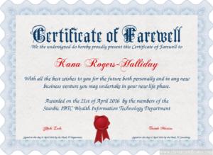 Certificate Template | Certificate Design | Free Certificate in Quality Farewell Certificate Template