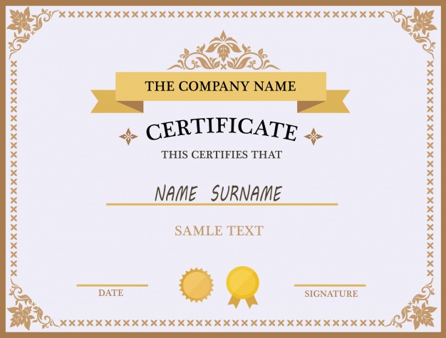 Certificate Template-Design | Kostenlose Vektor for New Design A Certificate Template