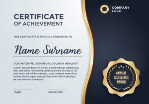 Certificate Template-Design | Kostenlose Vektor throughout New Design A Certificate Template