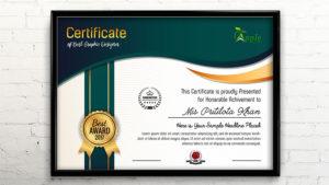 Certificate Template Design – Photoshop Cc Tutorial throughout New Design A Certificate Template