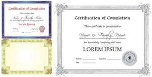 Certificate Template For Pages (5) – Templates Example pertaining to Certificate Template For Pages