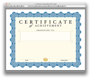 Certificate Template For Pages (7) – Templates Example in Best Pages Certificate Templates