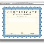 Certificate Template For Pages (7) – Templates Example Throughout Certificate Template For Pages