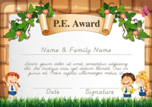 Certificate Template For Pe Award – Download Free Vectors throughout Pe Certificate Templates