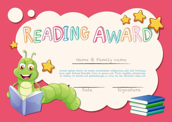 Certificate Template For Reading Award - Download Free regarding Reading Certificate Template Free