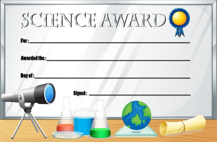 Certificate Template For Science Award - Download Free for Unique Science Award Certificate Templates