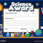 Certificate Template For Science Award Royalty Free Vector with regard to Unique Science Award Certificate Templates