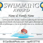 Certificate Template For Swimming Award Regarding Swimming Award Certificate Template