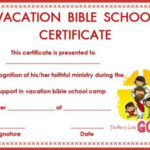 Certificate Template For Vbs   Bible School, Certificate Inside Quality Vbs Certificate Template