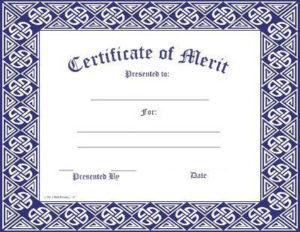 Certificate Template | Merit Award | Certificate Templates inside Fresh Certificate Of Merit Templates Editable